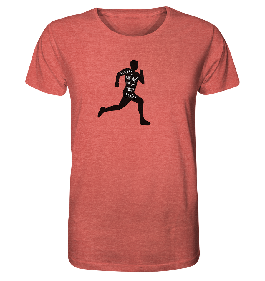 Runner Man Pain - Organic Shirt Meliert