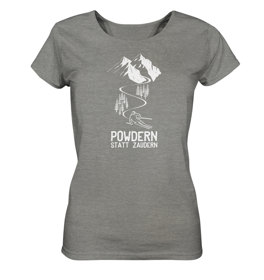 Powdern statt zaudern - Ladies Organic Shirt Meliert - Sale
