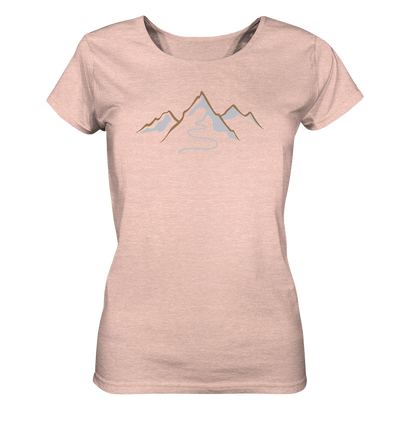 Spuren im Schnee - Ladies Organic Shirt Meliert