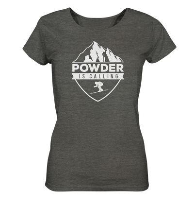 Powder is Calling - Ladies Organic Shirt Meliert
