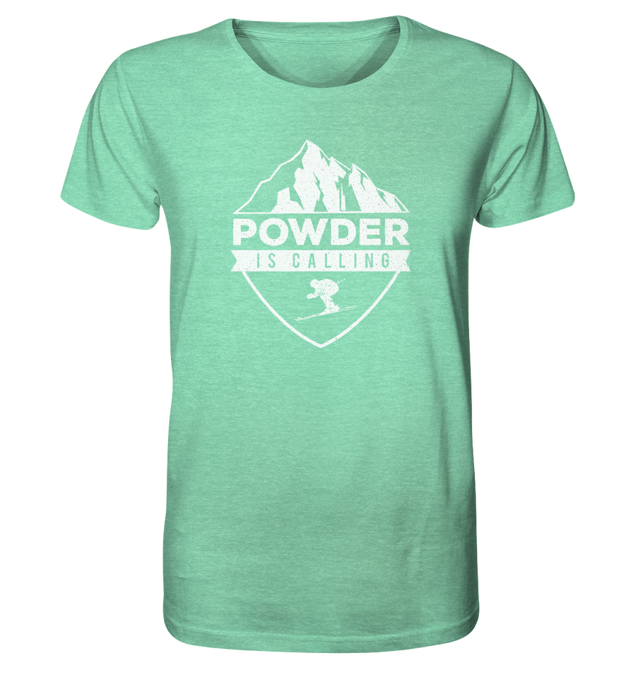 Powder is Calling - Organic Shirt Meliert