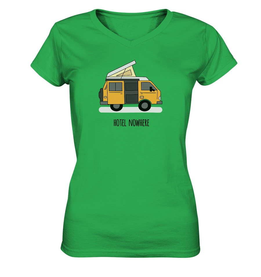 Hotel Nowhere - Ladies V-Neck Shirt