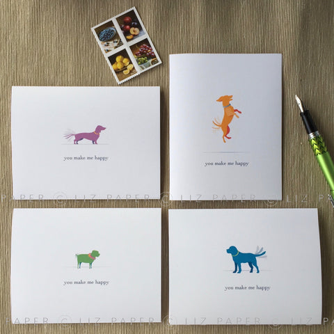 Happy Dogs Notes + Stamps!