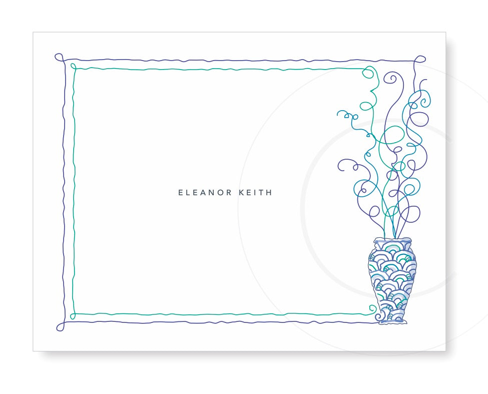 Personalized Folded Note with linear branches