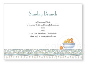 Oranges, invitations