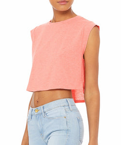 SIGNATURE FESTIVAL CROP TOP- Coral