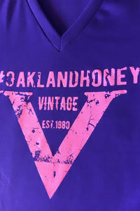 "OAKLAND HONEY ""V"" TEE PURPLE/PINK"