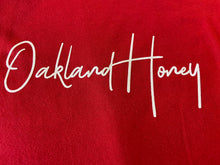 OAKLAND HONEY SIGNATURE TEE-  RED/WHITE