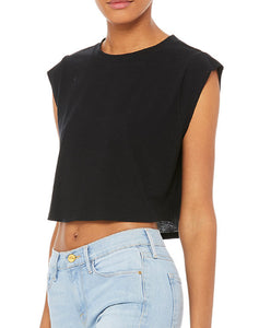 SIGNATURE FESTIVAL CROP TOP- Black w/ Yellow