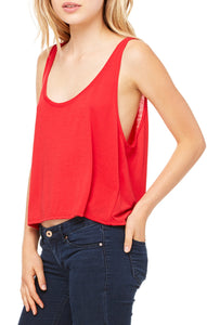 SIGNATURE  FLOWY BOXY TANK - RED