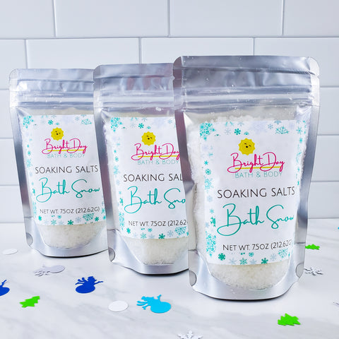 Bath Snow Soaking Salts