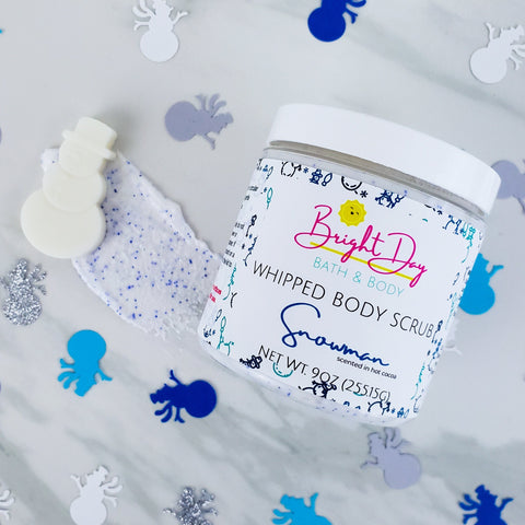 Snowman Hot Cocoa Whipped Body Scrub