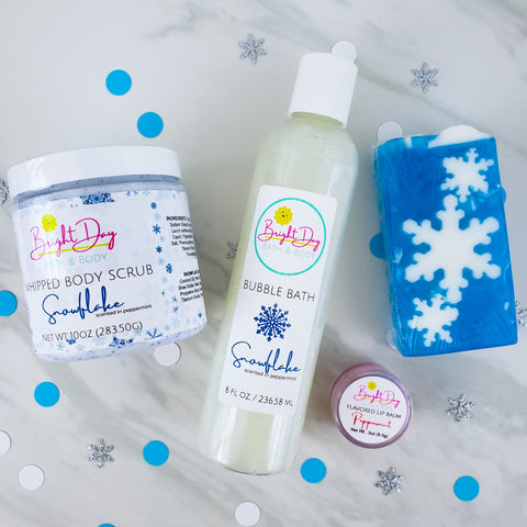 Snowflake Holiday Spa Gift Set (4pc)