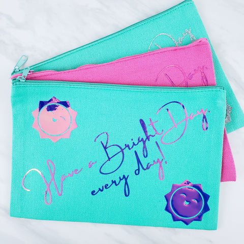 Have a Bright Day Cosmetic Bag