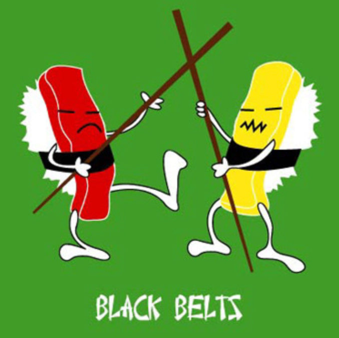 Black Belts Greeting Card