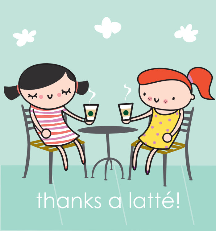 Latté Greeting Card
