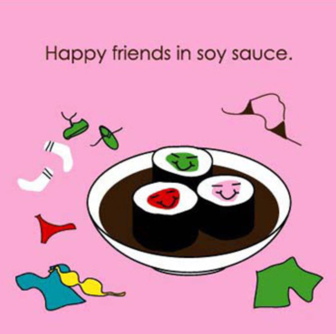 Soy Sauce Greeting Card