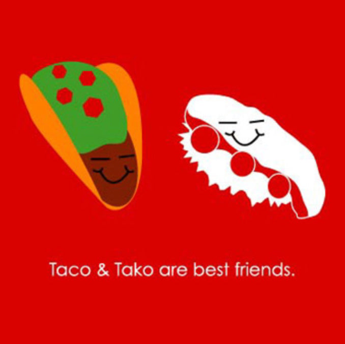 Taco & Tako Greeting Card