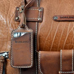 Leather Luggage Tags - Handmade leather luggage tags from Italy by Borlino.