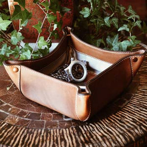 Leather Valet Trays - Handmade in Italy by Borlino