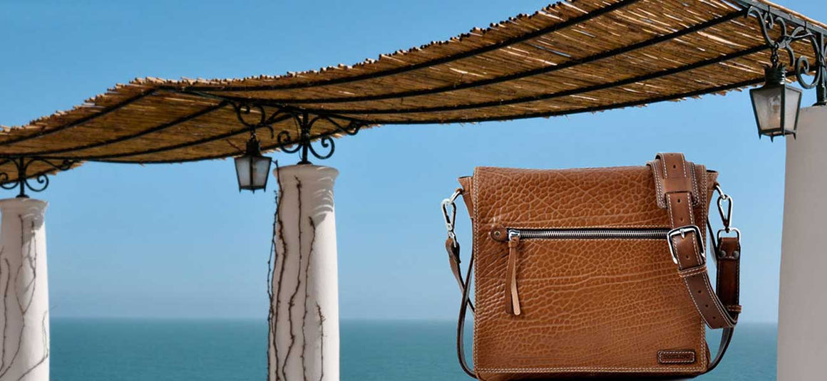 Leather Messenger Bags - Our Buffalo Leather Messenger Bags are made from the finest Italian buffalo leathers in Italy.