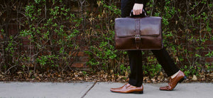 Briefcase Brown Leather - This brown leather briefcase is handmade in Italy of Italian leathers. We produce leather briefcases in many colors and materials. Classic Briefcase by Borlino.