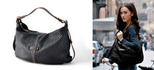 Leather Handbags Italian Black - Our luxury Italian leather handbags are created by Borlino in Riccione Italy.