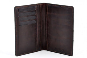 American Alligator Passport Wallet / Credit Card Case - Walnut