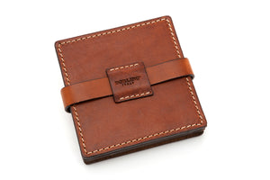 Italian Leather Drink Coasters - Terra