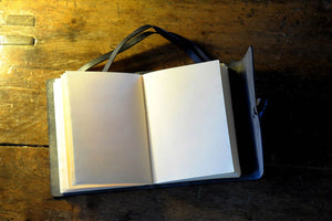 Slim Drawing Sketchbook with Hand Stitched Paper