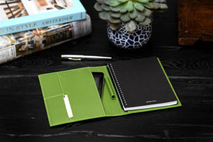 Cool Engraved Padfolio with Notepad and Tablet Phone Sleeve