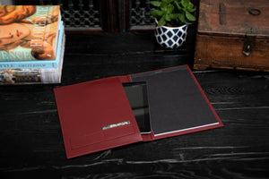 Modern Engraved Padfolio Journals with Sleek Notepad and Tablet Sleeve