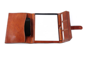 Italian Leather Handmade Post-Strap Brief Folio - Terra