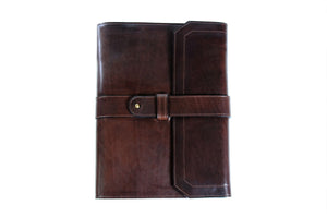 Personalized Dark Brown Travel Portfolio
