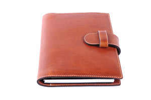 Personalized Light Tan Brown Travel Portfolio