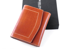 Small Leather Padfolio Journal with Magnetic Closure - Terra