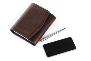 Soft Dark Brown Leather Covered Executive Journal Padfolios