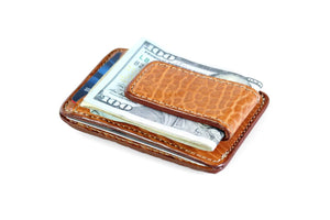 Customized Debossed Slim Money Clip Wallets