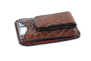 Engraved Sleek Front Pocket Credit Card Case