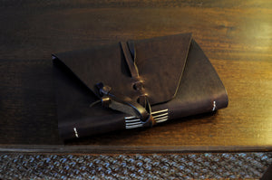Vachetta Italian Leather Handmade Journal - Walnut