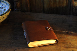 Vachetta Italian Leather Handmade Snap-Close Journal - Terra