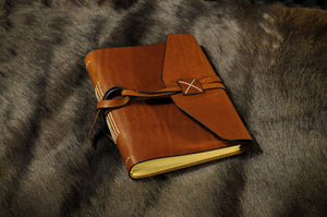 Italian Leather Handmade Large Journal - Terra