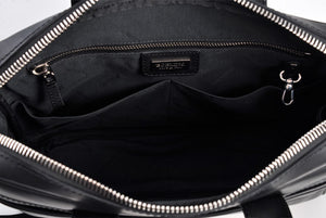 Soft Calf Leather Briefcase - The Treviso - Onyx