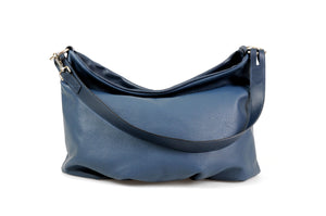 Handmade Italian Leather Handbag - Bologna - Capri Blue