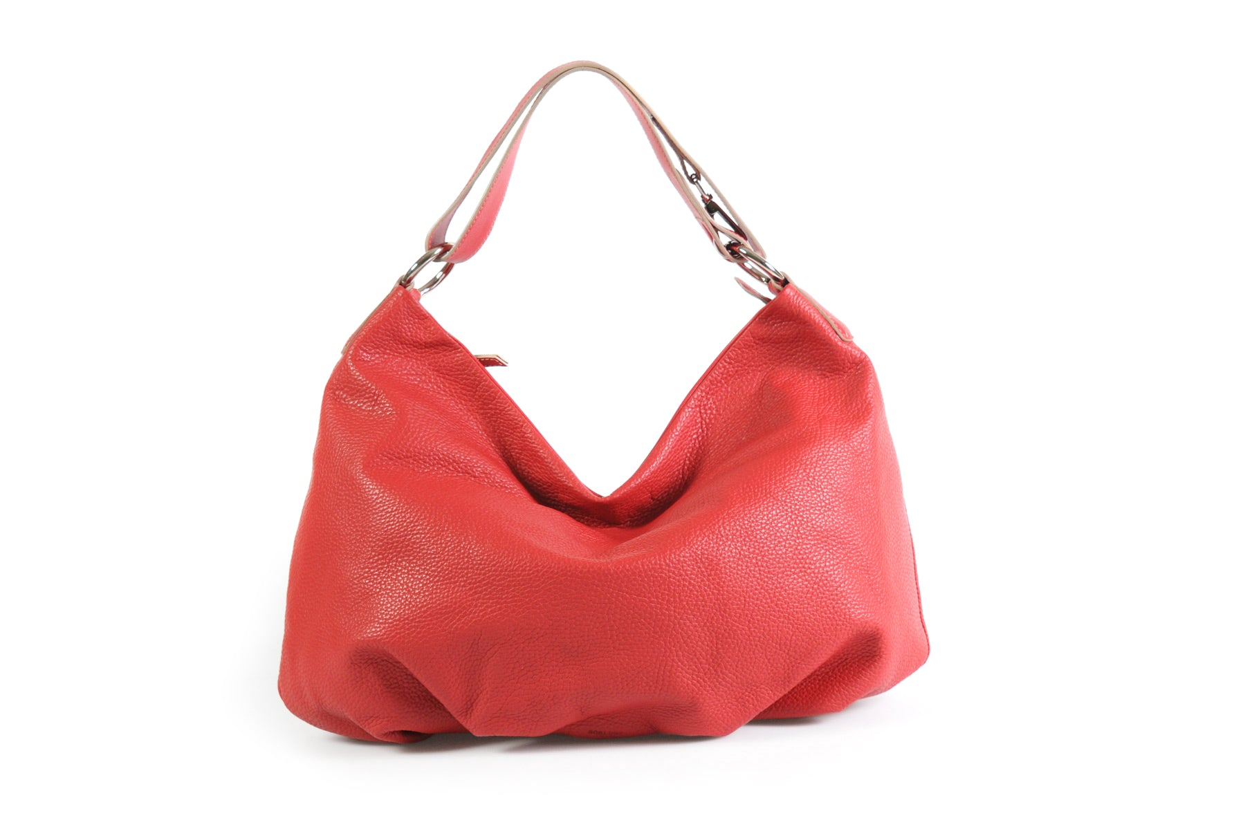 Handmade Italian Leather Handbag - Bologna - Lava Red