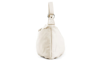 Handmade Italian Leather Handbag - Bologna - Luna White