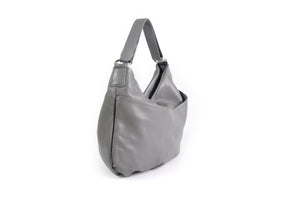 Handmade Italian Leather Handbag - Bologna - Pompeii Grey