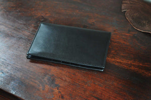 Leather Travel Wallet - Soft Black Calf