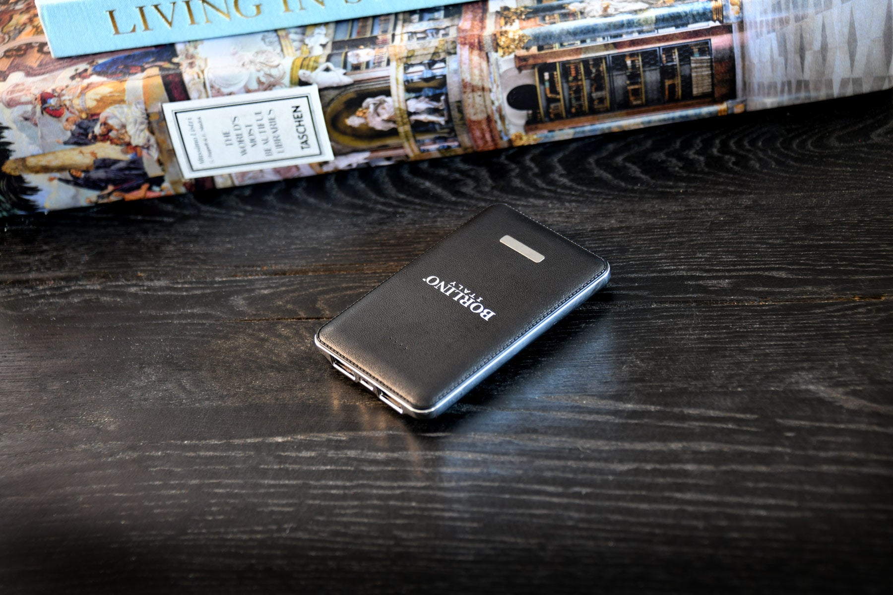 5000mAh Dual Port Leather Texture Power Bank