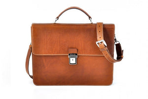 Leather Briefcase - The Forza - Ultra Slim - Terra